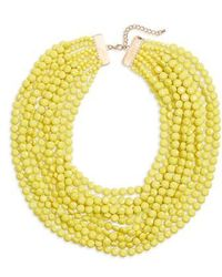 Cara - Multilayer Stone Necklace - Lyst