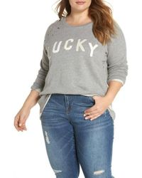Lucky Brand - Deconstructed Pullover - Lyst