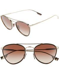 136e743e5b2 Lyst - Burberry Sunglasses Be 3089 114513 Light Gold in Brown