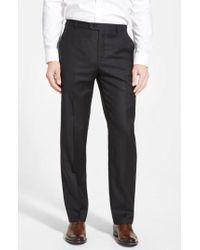 Hickey Freeman - 'b Series' Flat Front Wool Trousers - Lyst