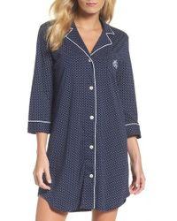 Lauren by Ralph Lauren - Jersey Sleep Shirt - Lyst