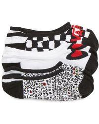Vans - 3-pack Canoodle Rose Motif Socks, Black - Lyst