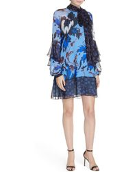 Diane von Furstenberg - Effie Floral Print Silk Shift Dress - Lyst