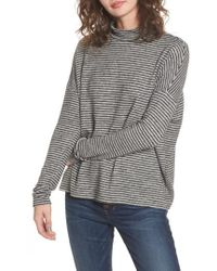 Soprano - Stripe Mock Neck Sweater - Lyst