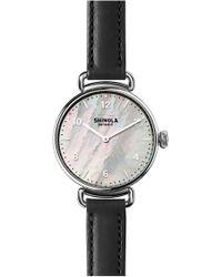 Shinola - Canfield Leather Strap Watch - Lyst