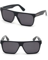 48dfcab6cde Tom Ford - 140mm Shield Sunglasses - - Lyst