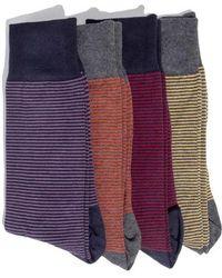 Hook + Albert - 4-pack Socks, Red - Lyst