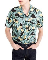 J.Crew | J.crew Short Sleeve Jungle Print Slub Cotton Shirt | Lyst