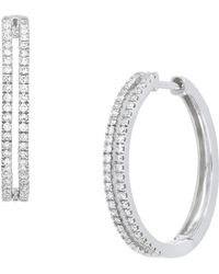 CARRIERE JEWELRY - Carriere Double Row Diamond Hoop Earrings (nordstrom Exclusive) - Lyst