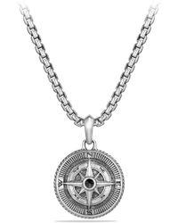 David Yurman - 'maritime' Compass Amulet With Black Diamond - Lyst
