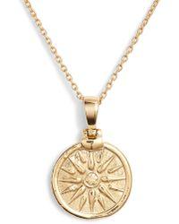 Argento Vivo - Sun Coin Pendant Necklace - Lyst