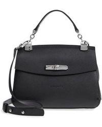 Longchamp - Madeleine Leather Satchel - Lyst