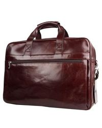 Bosca - Double Compartment Leather Briefcase - Lyst