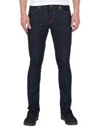 Volcom - 2x4 Slim Straight Leg Jeans - Lyst