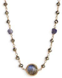 Ela Rae - El Rae Semiprecious Stone Collar Necklace - Lyst