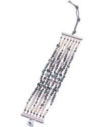 Nakamol - Agate Bead Multistrand Stretch Bracelet - Lyst