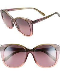Maui Jim - Alekona 55mm Sunglasses - Blush/ Mossy/ Peach - Lyst
