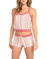RVCA - Such A Gem Stripe Shorts - Lyst
