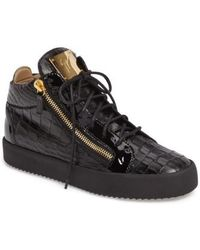 Giuseppe Zanotti - Mid Top Sneaker - Lyst