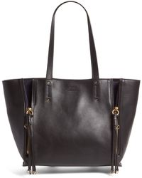 Chloé - Medium Milo Calfskin Leather Tote - Lyst