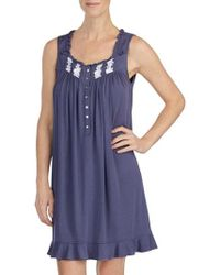 Eileen West - Embroidered Chemise - Lyst