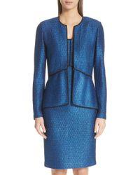 St. John - Luster Sequin Knit Jacket - Lyst