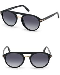 2f6a19b93f Lyst - Tom Ford 60mm Aviator Sunglasses - in Metallic for Men
