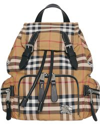 Burberry - Small Rucksack Vintage Check Nylon Backpack - Lyst