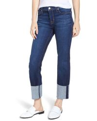 Hudson Jeans - Tally Cuffed Ankle Straight Leg Jeans - Lyst