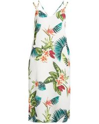 Lush - Strappy Floral Print Midi Dress - Lyst