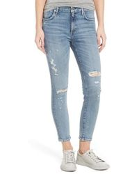 Agolde - Sophie Distressed High Waist Skinny Jeans - Lyst