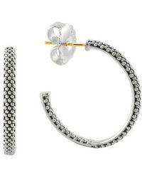 Lagos - Caviar Hoop Earrings (online Only) - Lyst