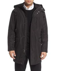 Cole Haan - Insulated Water Resistant Car Coat - Lyst