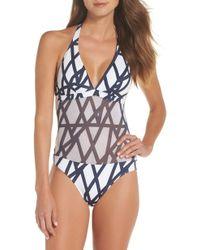 Vilebrequin - Graphic Net One-piece Swimsuit - Lyst