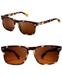 fb32ead7fa47 Lyst - Balenciaga Oval Sunglasses Ba2 45w Amber gold havana Ba0002 ...