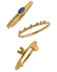 Madewell - Shapes & Stones Set Of 3 Rings - Lyst
