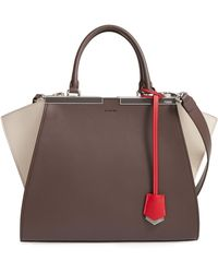 Fendi - 3jours Colorblock Calfskin Leather Shopper - Lyst 6a0977d0b28e3