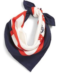 Burberry - Archive Society Print Square Silk Scarf - Lyst
