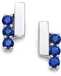 Dana Rebecca - Sylvie Rose Sapphire Bar Stud Earrings - Lyst