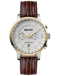 INGERSOLL WATCHES - Ingersoll Grafton Chronograph Leather Strap Watch - Lyst