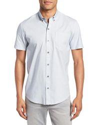 W.r.k. - Square Slim Fit Dot Sport Shirt - Lyst
