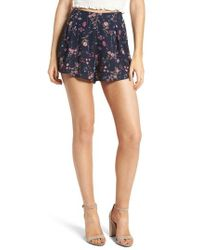 Nordstrom - Pleat Front High Waist Shorts - Lyst
