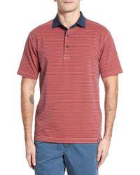 Thaddeus - Ivan Stripe Stretch Jersey Polo - Lyst