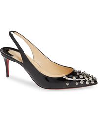 b75a6988c4f7 Christian Louboutin Neofilo Patent Roundtoe Red Sole Pump Nude in ...