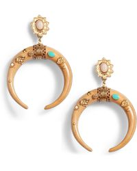 Gas Bijoux - Juan Crescent Drop Earrings - Lyst