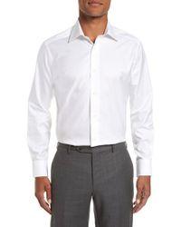 David Donahue - Slim Fit Solid Dress Shirt - Lyst