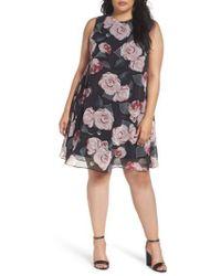 Taylor Dresses - Moonlit Rose Chiffon Swing Dress - Lyst