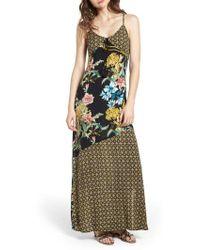 Band Of Gypsies - Tropical Mixed Print Maxi Dress - Lyst