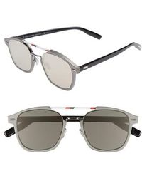 2eb961ace1 Dior Homme - Al13.13 52mm Sunglasses - Ruthenium  Ivory - Lyst