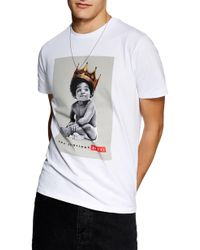 TOPMAN - Biggie Smalls Graphic T-shirt - Lyst